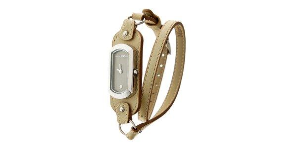 Dámske hodinky Marc O´Polo s úzkym béžovým remienkom