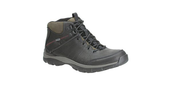 Pánske čierne goretexové kožené topánky Clarks