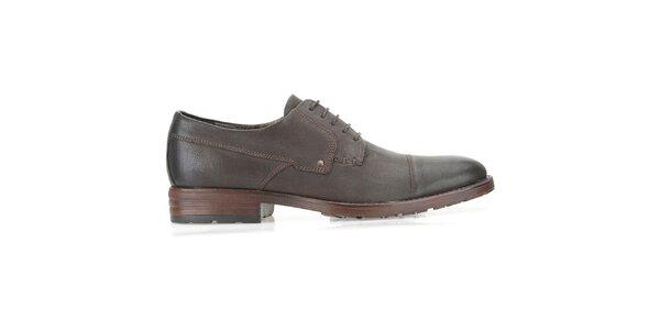 Pánske tmavo hnedé topánky Clarks