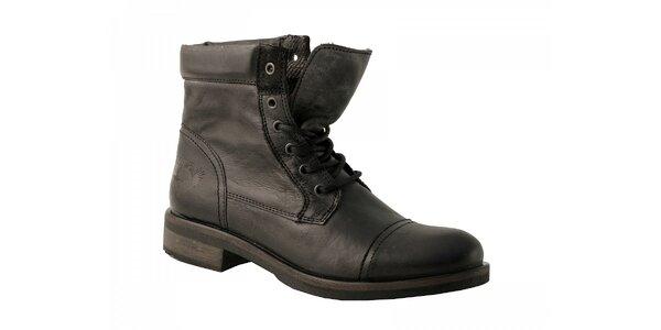 Pánske čierne kotníkové topánky Red Hot