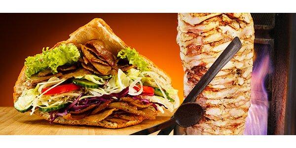 Kurací Döner kebab s hranolkami