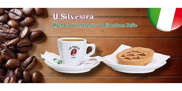 Skvelá talianska voňavá káva a koláčik CROSTATINA