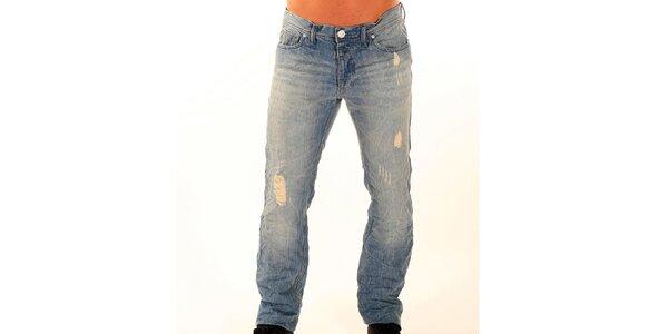 Pánske svetlo modré džínsy New Caro