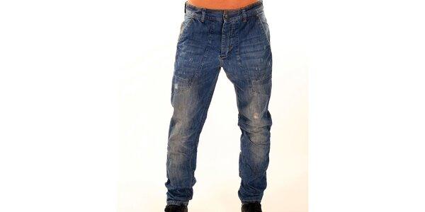 Pánske tmavo modré džínsy New Caro