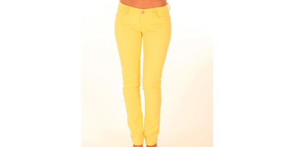Dámske žlté džínsy New Caro