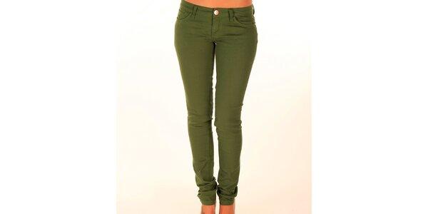 Dámske trávovo zelené džínsy New Caro