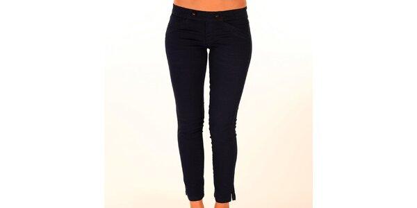 Dámske čierne nohavice s elastickým pásom New Caro