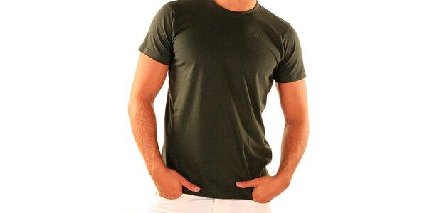Pánske zelené tričko s krátkym rukávom New Caro