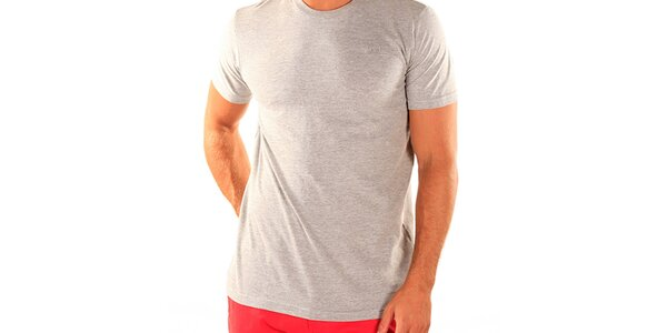 Pánske šedé tričko s krátkym rukávom New Caro