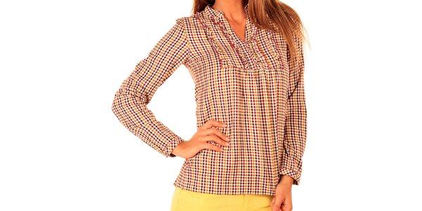 Dámska kockovaná košeľa so zdobeným živôtikom New Caro
