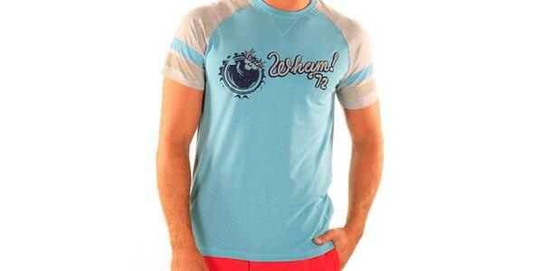 Pánske svetlo modré tričko New Caro