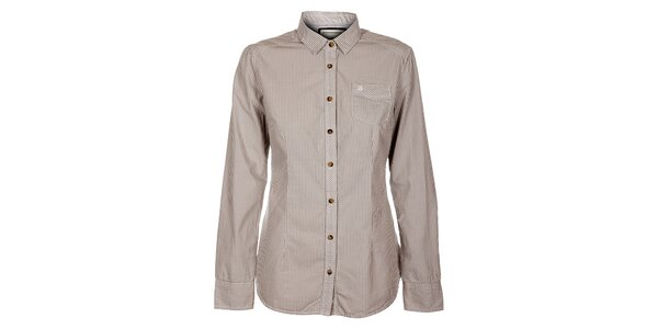 Dámska svetlo šedá kockovaná košeľa Timeout