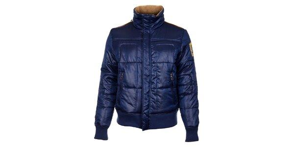 Pánska tmavo modrá zimná bunda Timeout