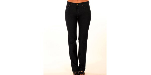 Dámske úzke antracitové džínsy Trussardi