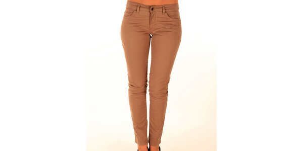 Dámske úzke béžové džínsy Trussardi