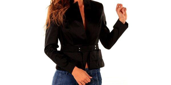 Dámske čierne sako s vreckami Trussardi