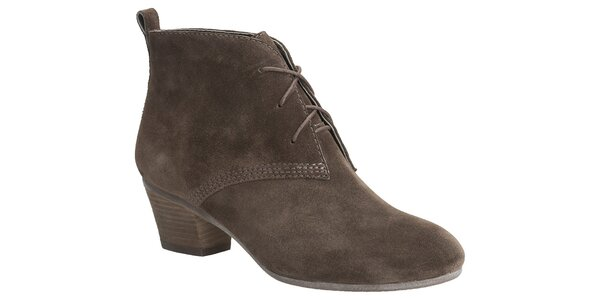 Dámske hnedé semišové topánky Clarks
