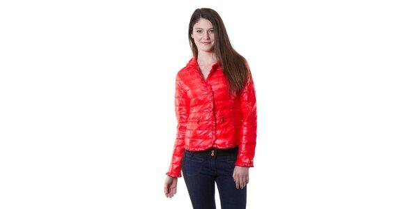Dámska červená lesklá bunda Yes!Miss