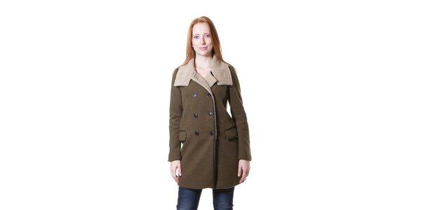 Dámsky vojensky zelený kabát Yes!Miss
