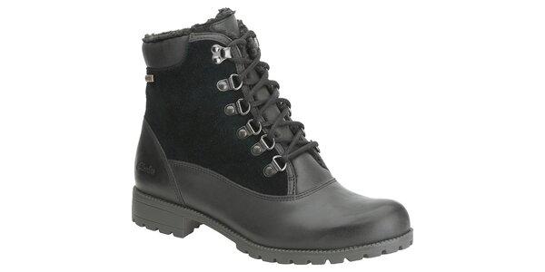 Dámske čierne členkové topánky Clarks s Gore-Texom