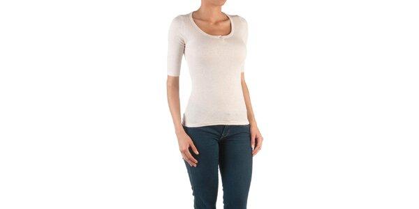 Dámske prírodné tričko s 3/4 rukávmi Womens Secret
