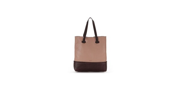 Dámska hnedo-ružová kabelka Abbacino