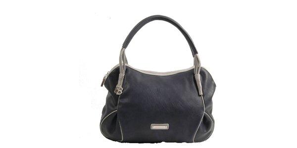Dámska tmavo modrá kabelka Bulaggi s šedými detailmi