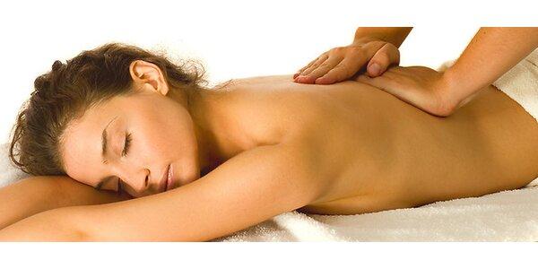 Klasická relaxačná masáž chrbta a šije v trvaní 45 minút