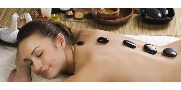90 minútová masáž lávovými kameňmi