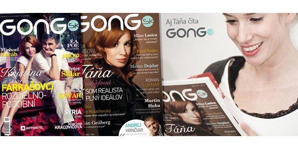 Predplatné časopisu Gong