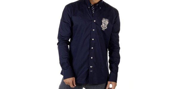 Pánska tmavo modrá košeľa so znakom CLK