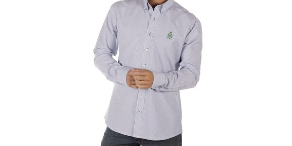 Pánska modro pruhovaná košeľa CLK