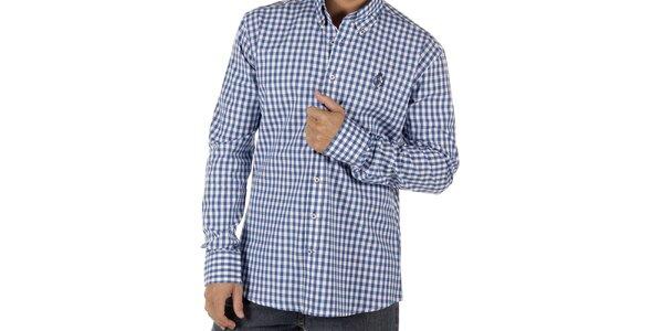 Pánska modro kockovaná košeľa CLK