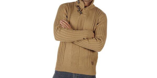 Pánsky ťaví sveter s olivkami CLK