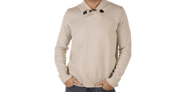 Pánsky svetlo béžový sveter CLK