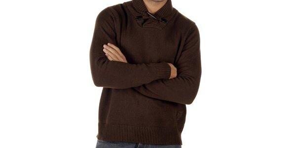 Pánsky hnedý sveter CLK