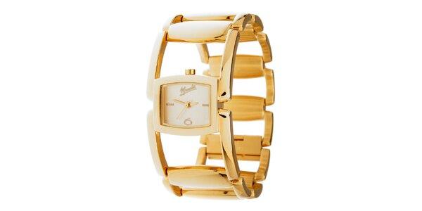 Dámske zlaté oceľové hodinky Memphis