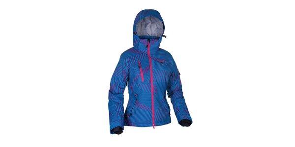 Dámska modrá lyžiarska bunda s potlačou Envy