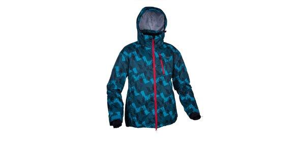 Pánska modrá zimná bunda s potlačou Envy