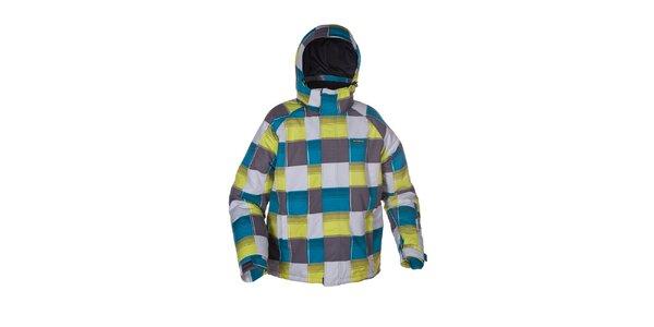 Pánska šedá kockovaná bunda na lyže Envy