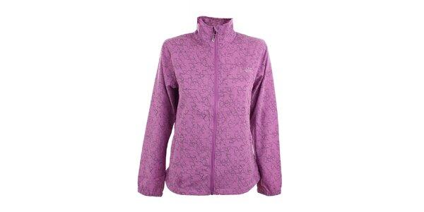 Dámska fialová softshellová bunda s potlačou Loap