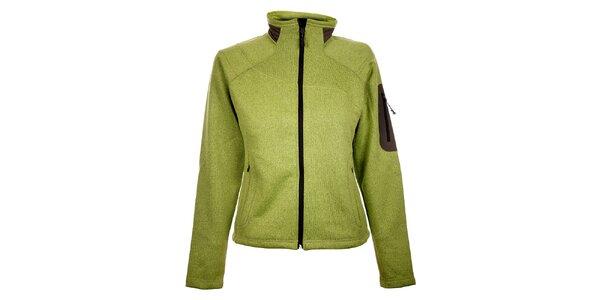 Dámsky svetlo zelený športový sveter Trimm