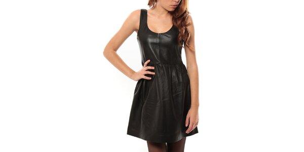 Dámske čierne kožené šaty My Little Poesy