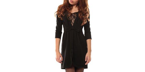 Dámske čierne šaty s mašľou My Little Poesy