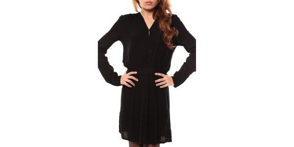 Dámske čierne šaty s dlhým rukávom My Little Poesy