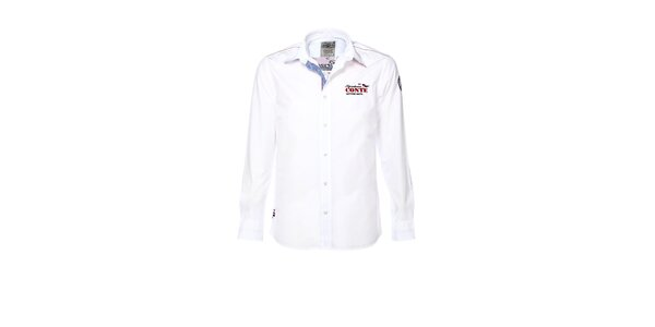 Pánska biela košeľa s výšivkou M. Conte