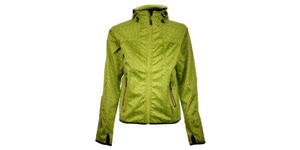 Dámska svetlo zelená bodkovaná bunda Trimm Nelli