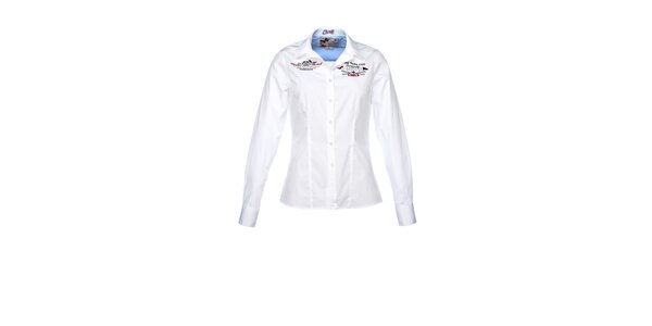 Dámska biela košeľa s dlhým rukávom M. Conte