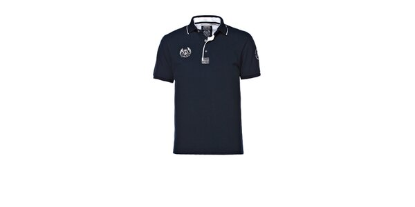Pánske tmavo modré polo tričko M. Conte