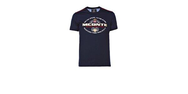 Pánske tmavo modré tričko s výšivkou M. Conte
